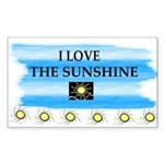 I LOVE THE SUNSHINE Rectangle Sticker