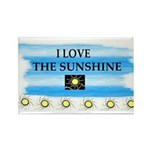 I LOVE THE SUNSHINE Rectangle Magnet (100 pack)