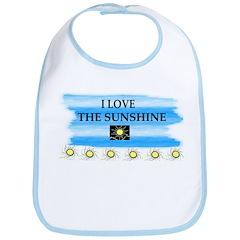 I LOVE THE SUNSHINE Bib