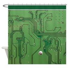 Green Circuit Board 2 sc Shower Curtain