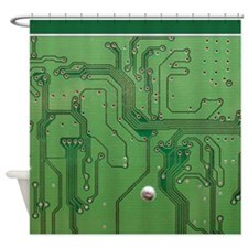 Green Circuit Board 2 sc Shower Curtain