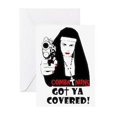 combat nuns-got ya covered Greeting Card