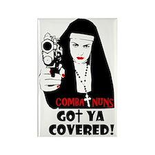 combat nuns-got ya covered Rectangle Magnet