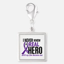 Cystic Fibrosis Real Hero 2 Silver Square Charm