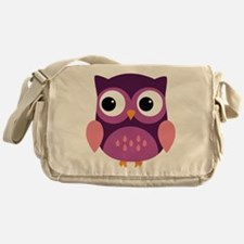 Purple Owl Messenger Bag