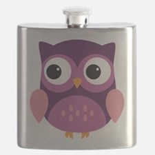 Purple Owl Flask