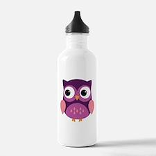 Purple Owl Water Bottle