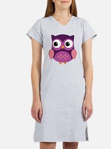 Purple Owl Women's Nightshirt