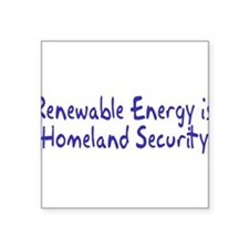 "Cute Renewable energy Square Sticker 3"" x 3"""