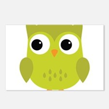 Green Owl-3 Postcards (Package of 8)
