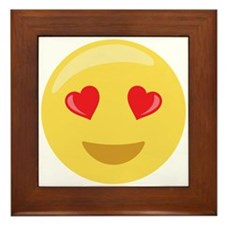 Love Face Emoticon Framed Tile