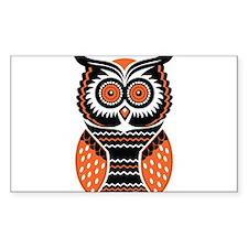 Orange and Black Owl Decal