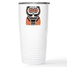 Orange and Black Owl Travel Mug