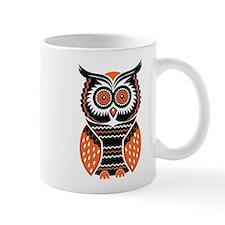 Orange and Black Owl Mugs