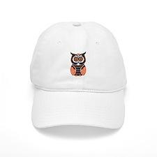 Orange and Black Owl Baseball Baseball Cap