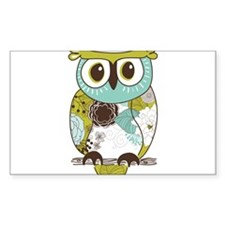Teal Green Owl Decal