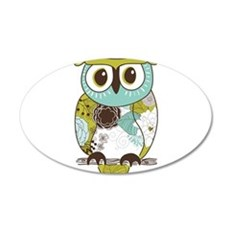 Teal Green Owl Wall Decal