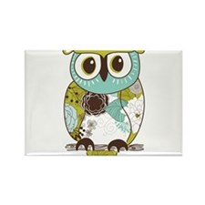 Teal Green Owl Magnets