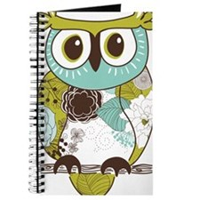Teal Green Owl Journal