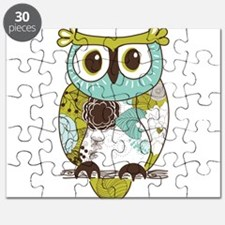 Teal Green Owl Puzzle