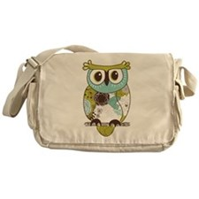 Teal Green Owl Messenger Bag