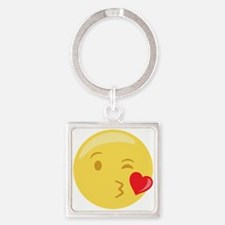 Kiss Wink Face Emoticon Keychains