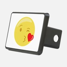 Kiss Wink Face Emoticon Hitch Cover