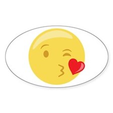 Kiss Wink Face Emoticon Decal
