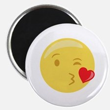Kiss Wink Face Emoticon Magnets