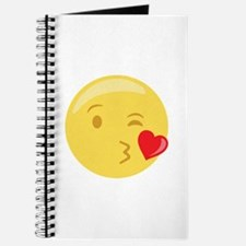 Kiss Wink Face Emoticon Journal