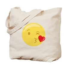 Kiss Wink Face Emoticon Tote Bag