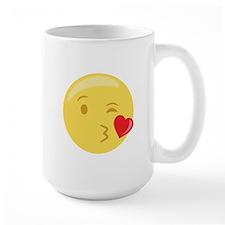 Kiss Wink Face Emoticon Mugs