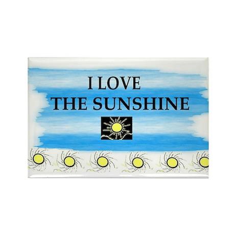 I LOVE THE SUNSHINE Rectangle Magnet