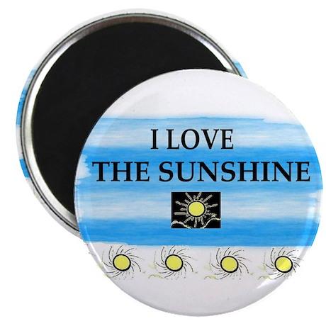 """I LOVE THE SUNSHINE 2.25"""" Magnet (10 pack)"""