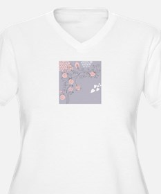 Pretty Floral Plus Size T-Shirt
