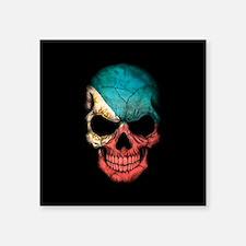 Filipino Flag Skull on Black Sticker