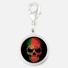 Portuguese Flag Skull on Black Charms