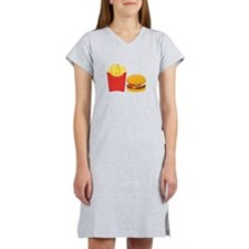 Fast Food French Fries Burger Women's Nightshirt