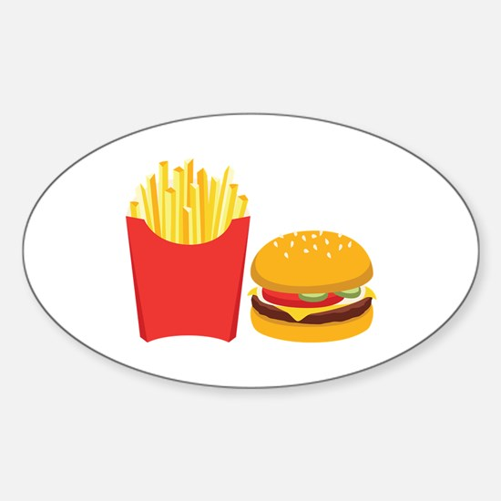 Fast Food French Fries Burger Decal