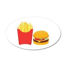 Fast Food French Fries Burger Wall Decal