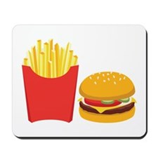 Fast Food French Fries Burger Mousepad