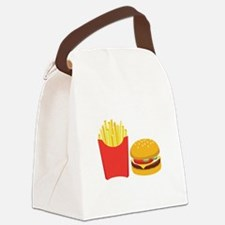 Fast Food French Fries Burger Canvas Lunch Bag