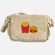 Fast Food French Fries Burger Messenger Bag