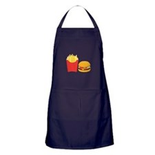 Fast Food French Fries Burger Apron (dark)