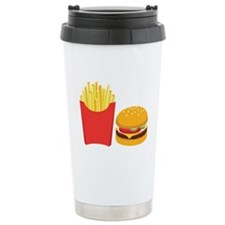Fast Food French Fries Burger Travel Mug
