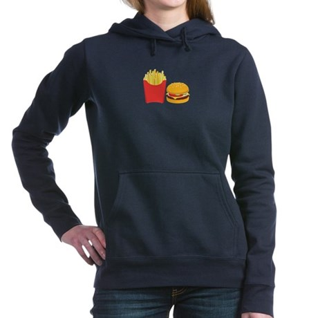 Fast Food French Fries Burger Women's Hooded Sweat