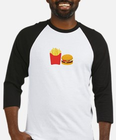 Fast Food French Fries Burger Baseball Jersey