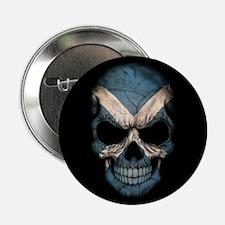 """Scottish Flag Skull on Black 2.25"""" Button"""