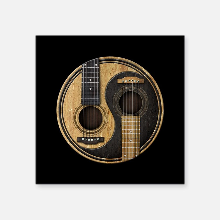 acoustic guitar stickers acoustic guitar sticker designs label stickers cafepress. Black Bedroom Furniture Sets. Home Design Ideas