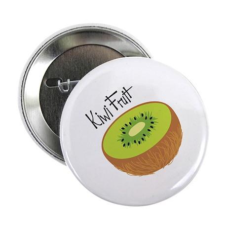 """Kiwi Fruit 2.25"""" Button"""